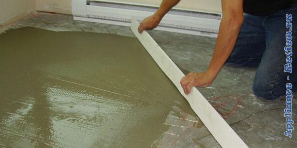 уладка линолеума на бетонное основание