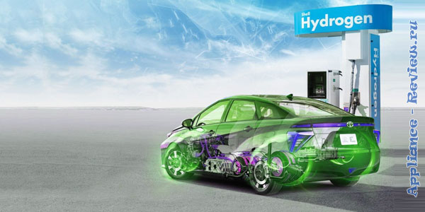 заправка для автомобиля на водородном топливе