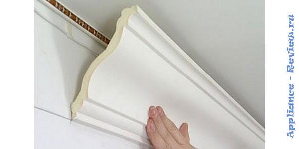 Типы и способы монтажа потолочного плинтуса под ленту